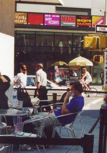 People at a Restaurant near Washington Square
