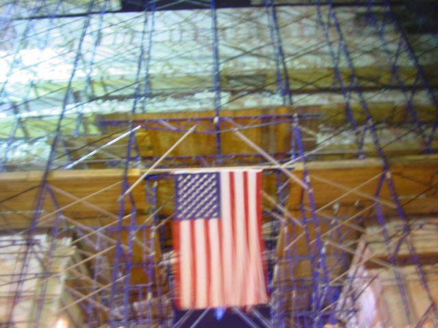 Flag on Scaffolding