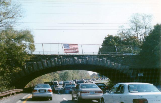 Flags on Bridges