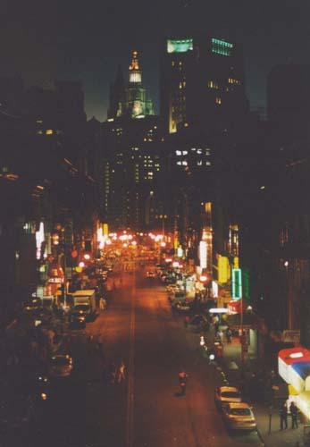 Chinatown from the Manhattan Bridge 9/15/2001
